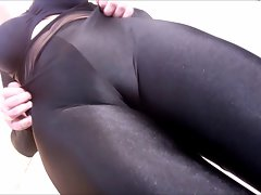 Spandex Angel - Sensual black catsuit