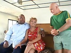 Ebony Husband watch his Dirty wife banged by white man