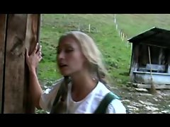 Two 19 years old German lasses Shagging in a barn