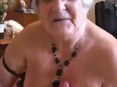 Grandma successfully milks a fellows dick-daddi