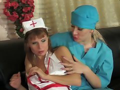 Sensual russian lesbo doctor and nurse