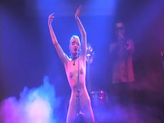 german kinky wench singer naked on stage in nos concert