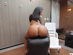 Filthy Latin transsexual with amazing big bum