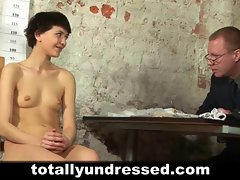 Shy 18yo secretary interviewed