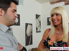 Pierced and tattooed mama Kasey Storm banging