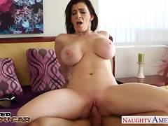 Chesty puma Sara Jay banging a extremely huge shaft