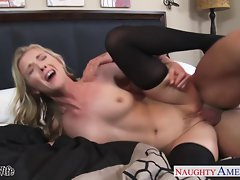 Puny breasted slutty wife Karla Kush gets facialized