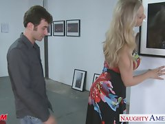Luscious light-haired mum Julia Ann gets big jugs banged