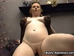 Top heavy Fiona getting slammed by black pecker