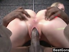 Hydii May can't resist a long ebony pecker