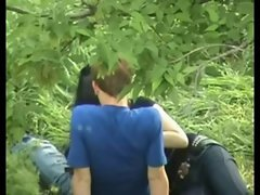 Asian Babe Playing With Seductive russian Guy Penis On Public