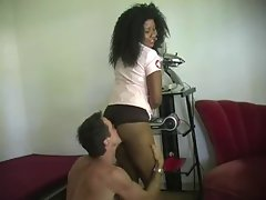 Ebony Mistress and white hubby1