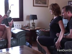 Introducing new lover to pathetic husband - Femdom - Cuckold