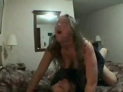 Amateur rides her bf shaft