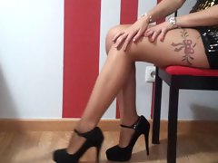 attractive sexual cutie irreproachable legs in high heels fetish