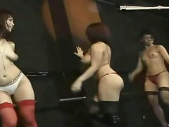 Club of seductive japanese slutty chicks bare - Dance