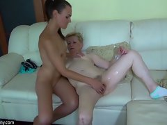 Oldnanny aged plumper grannies masturbating and admiring with you