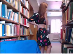 English Lady Cams in Busy Library Part 2
