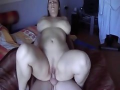 Seductive Fatty Plump Girlfriend with sensual bum riding penis