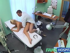 FakeHospital Blondie with mega big melons wants to be a nurse