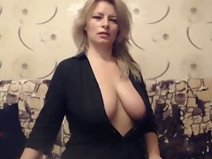 Experienced Big titted Filthy bitch teases on Web cam