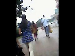 Desi tempting cutie walk on street