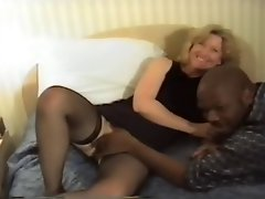 Tempting blonde wife's BBC hotel fun