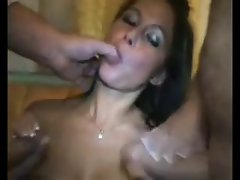 19 years old Slutty wife Cuckolds Hubby with 2 Men