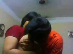 Tamil Couple Kissing Boob Fellatio