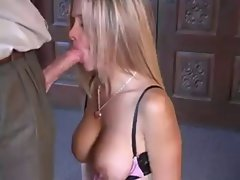 Mommy tempting blonde loves sex and cumshot