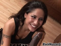 Jenaveve Jolie accepts a Black Monster Phallus