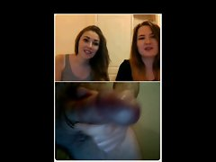 My dickflash for two comely lasses on webcam