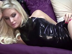 Christiana Ebony Latex Hotpants