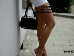 best of hussy flashing in miniskirt street platform heels