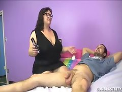 Big-Sized Filthy bitch Jerking Her Daughters Boyrfiend
