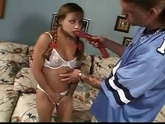 Comely Raunchy teen Sister Caresses & Screws an Elder Chaps Pecker
