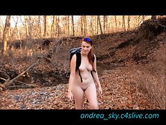 Naked backpacking- andrea sky