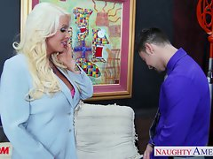Tempting blonde momma Alura Jenson gets large knockers banged