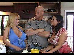 Ava and Harmony in enormous melons thresome
