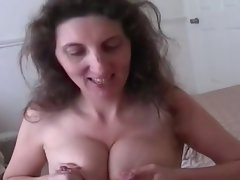 Lactating experienced milks while giving excellent dick sucking