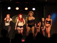 Burlesque Lingerie Show by Anglo-Nordic Rocker Light-haired