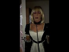 Sissy Maid Collered And Leash