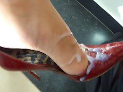 He Cums All Over Her Sensual High Heels Pumps Short Clip