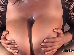 Big boobed cute bbw slutty ebony licks my pecker