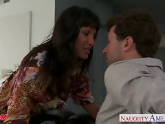 Dark haired mum Lezley Zen receive dick