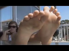 Big Nordic-Western Feet of Anglo Light-haired Holly Harper