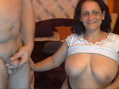 Sexual Randy indian Granny with her Husband