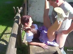 19 years old german bavarien Saucy teen get banged by not step-dad