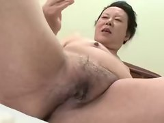 Seductive japanese Cute bbw Granny shino moriyama 66-years-old H-0930