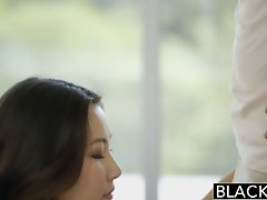 BLACKED Asian Slutty girl Jade Luv Screams on Massive Black Prick